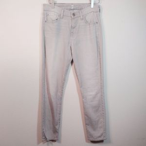 7 For All Mankind Gray The Mid Rise Skinny Jean